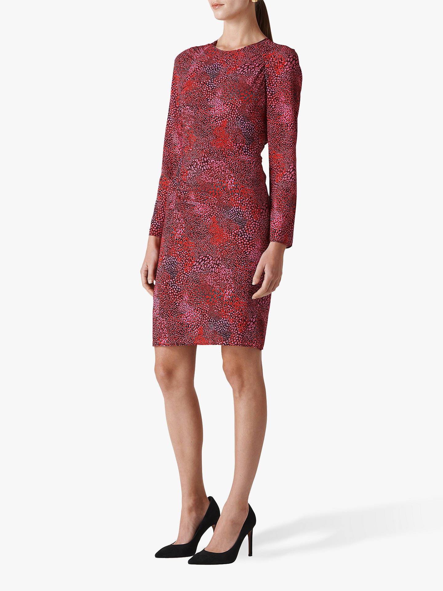 BuyWhistles Abstract Animal Silk Blend Bodycon Dress 8956a4468d88