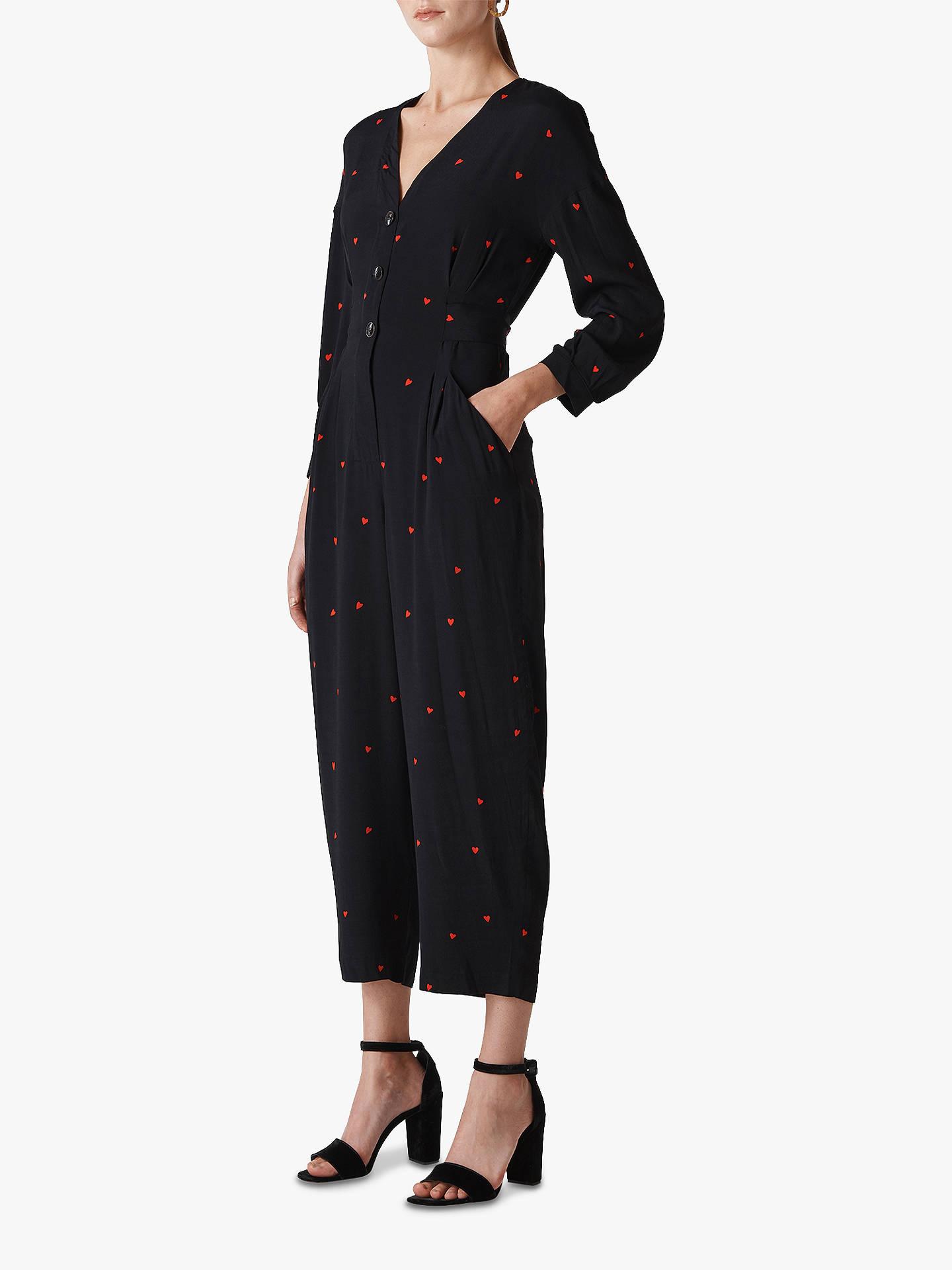 dac630d834 Buy Whistles Heart Print Tie Jumpsuit