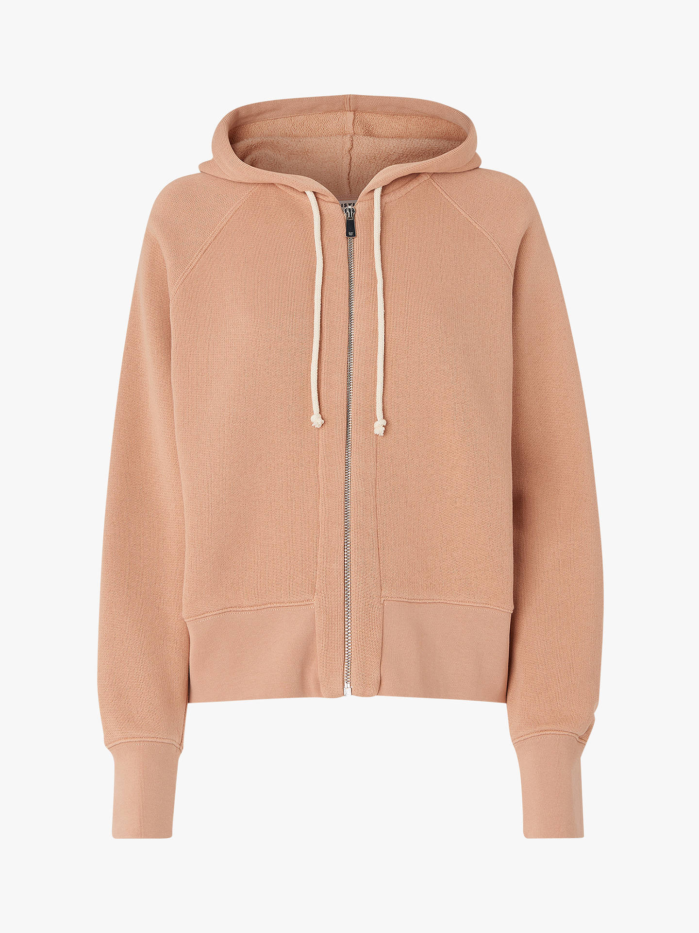 BuyWhistles Oversized Washed Fleece Hoodie, Neautral, XS Online at johnlewis.com