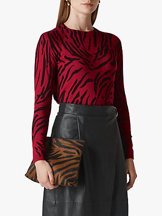Whistles Animal Printed Jumper, Red