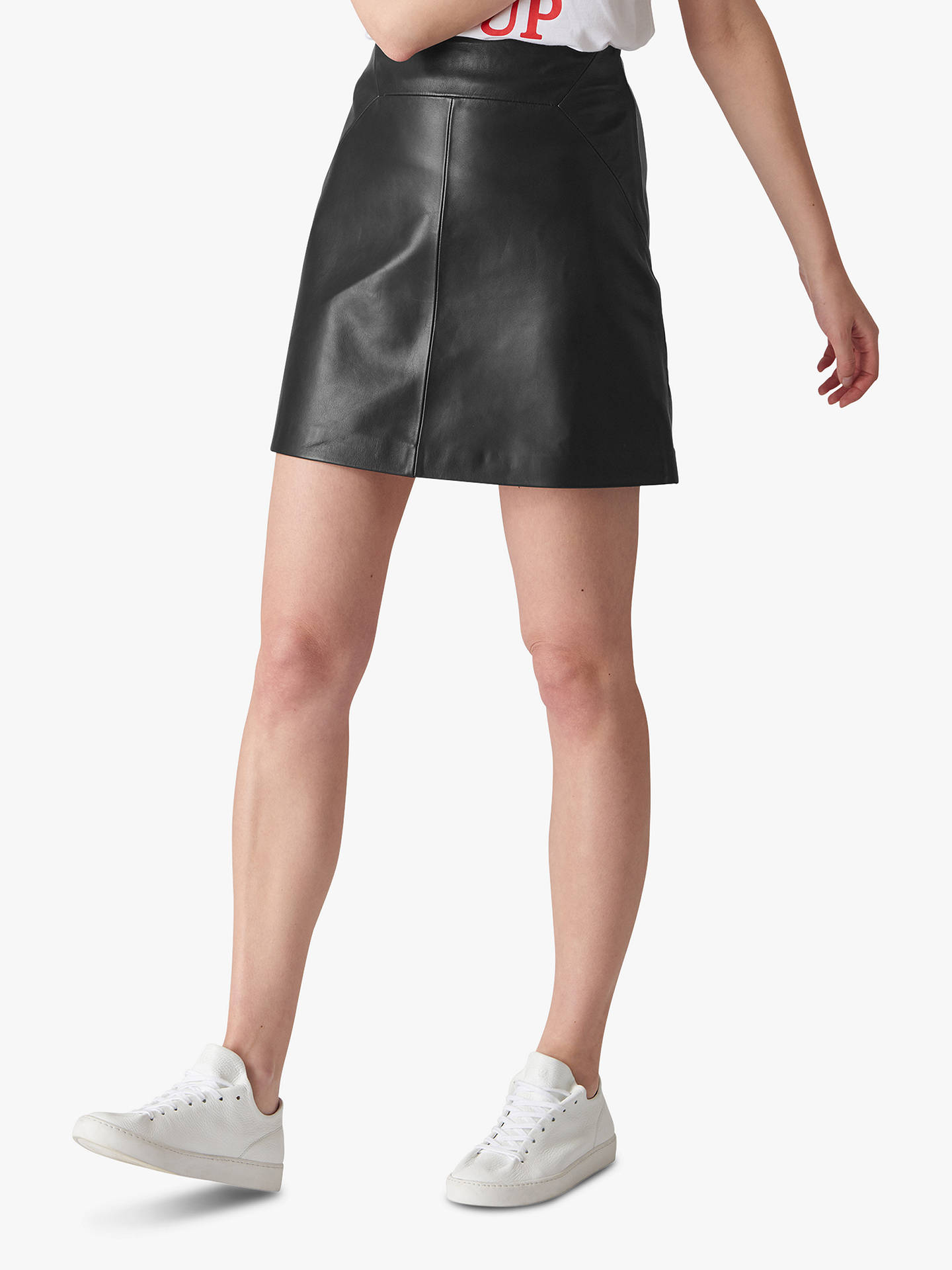 93d022b5246 Buy Whistles A-Line Mini Leather Skirt