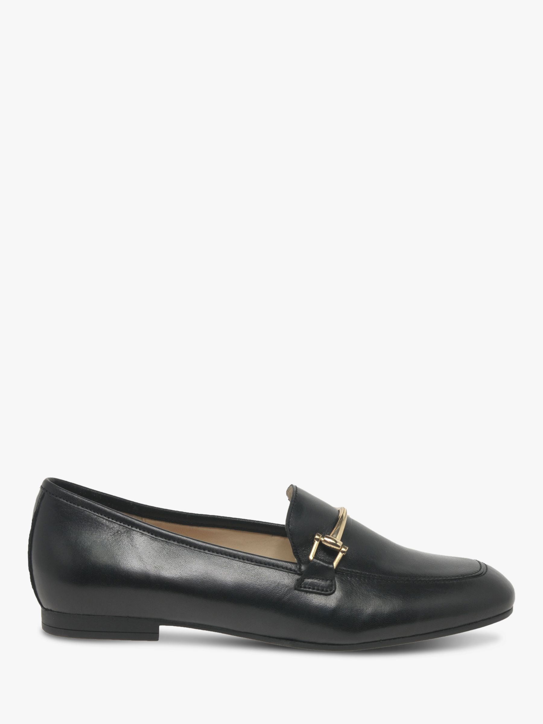 buy online 24a28 e72f9 Gabor Serin Gold Trim Loafers, Black