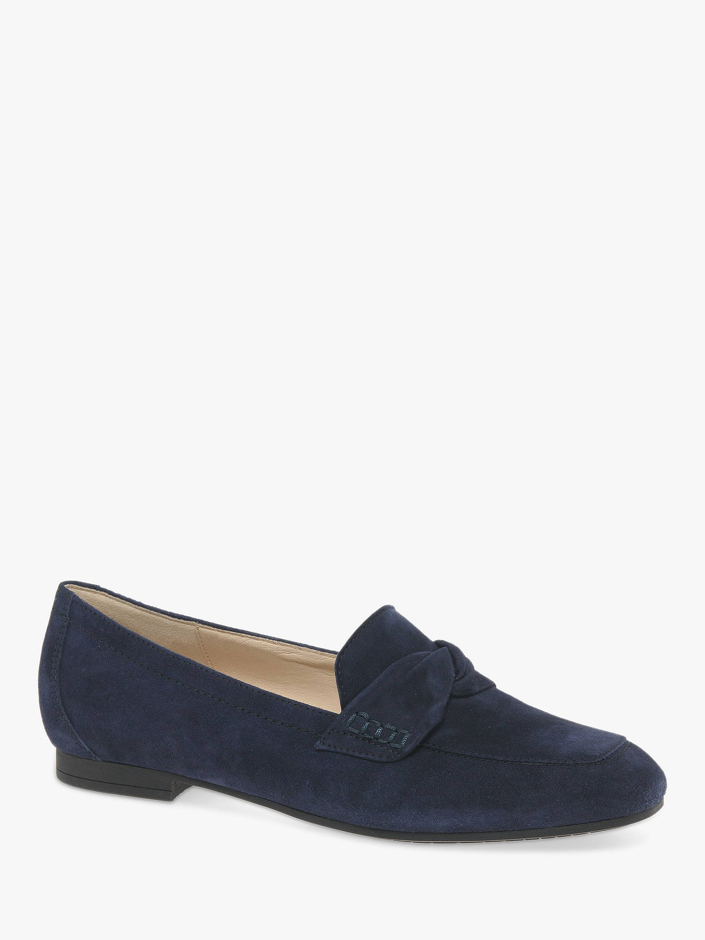 e68631be64b Gabor Mendoza Loafers, Navy Suede at John Lewis & Partners