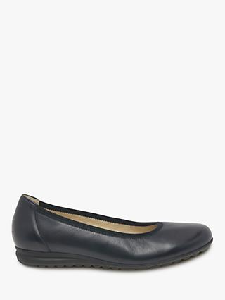 Gabor Splash Wide Fit Pumps, Navy