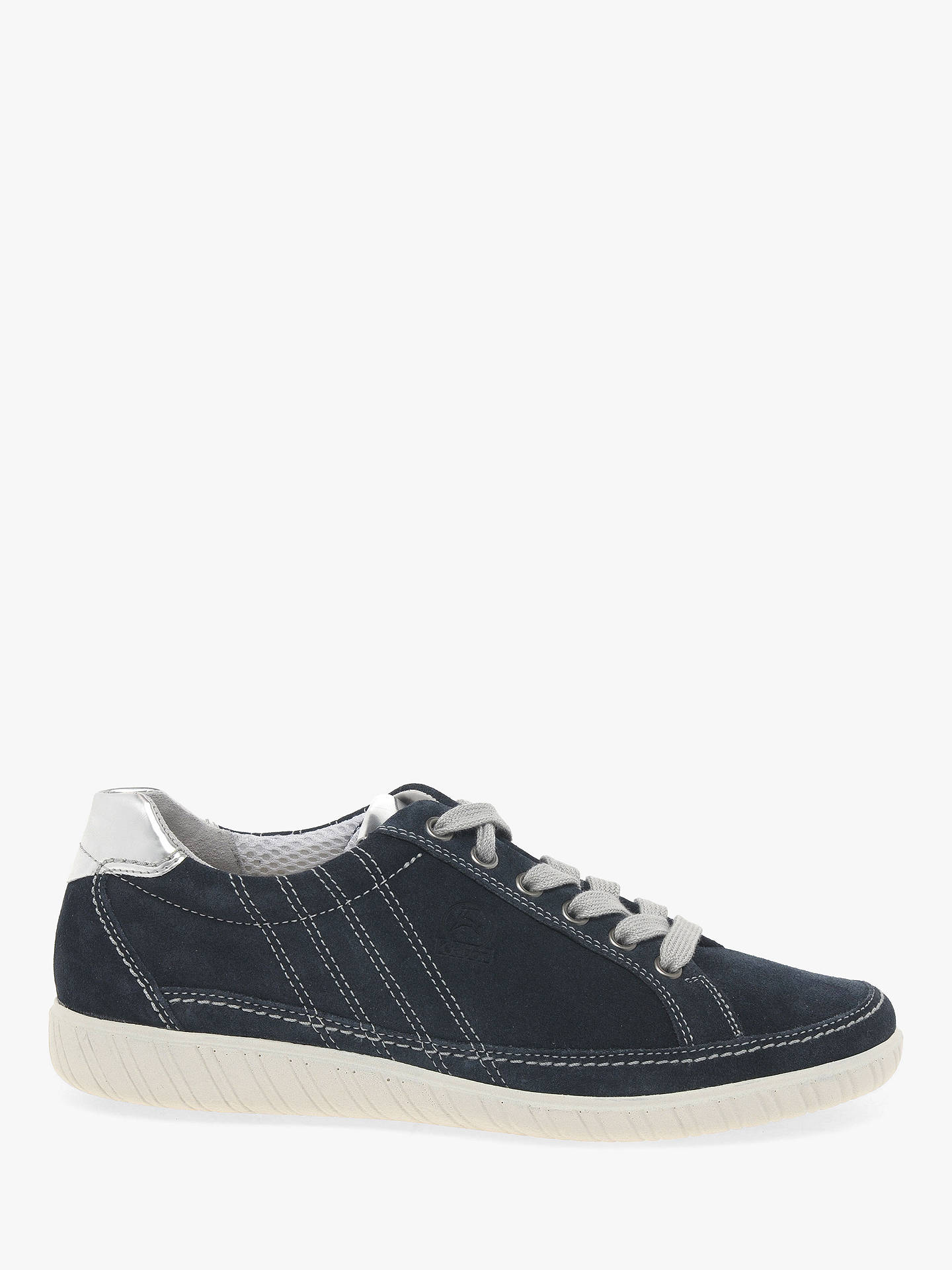 7737e2d53522b Buy Gabor Amulet Wide Fit Trainers, Navy Suede, 3 Online at johnlewis.com  ...