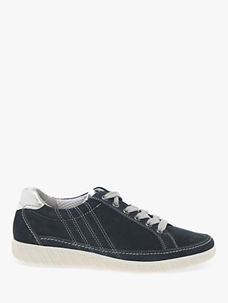 Gabor Amulet Wide Fit Trainers, Navy Suede