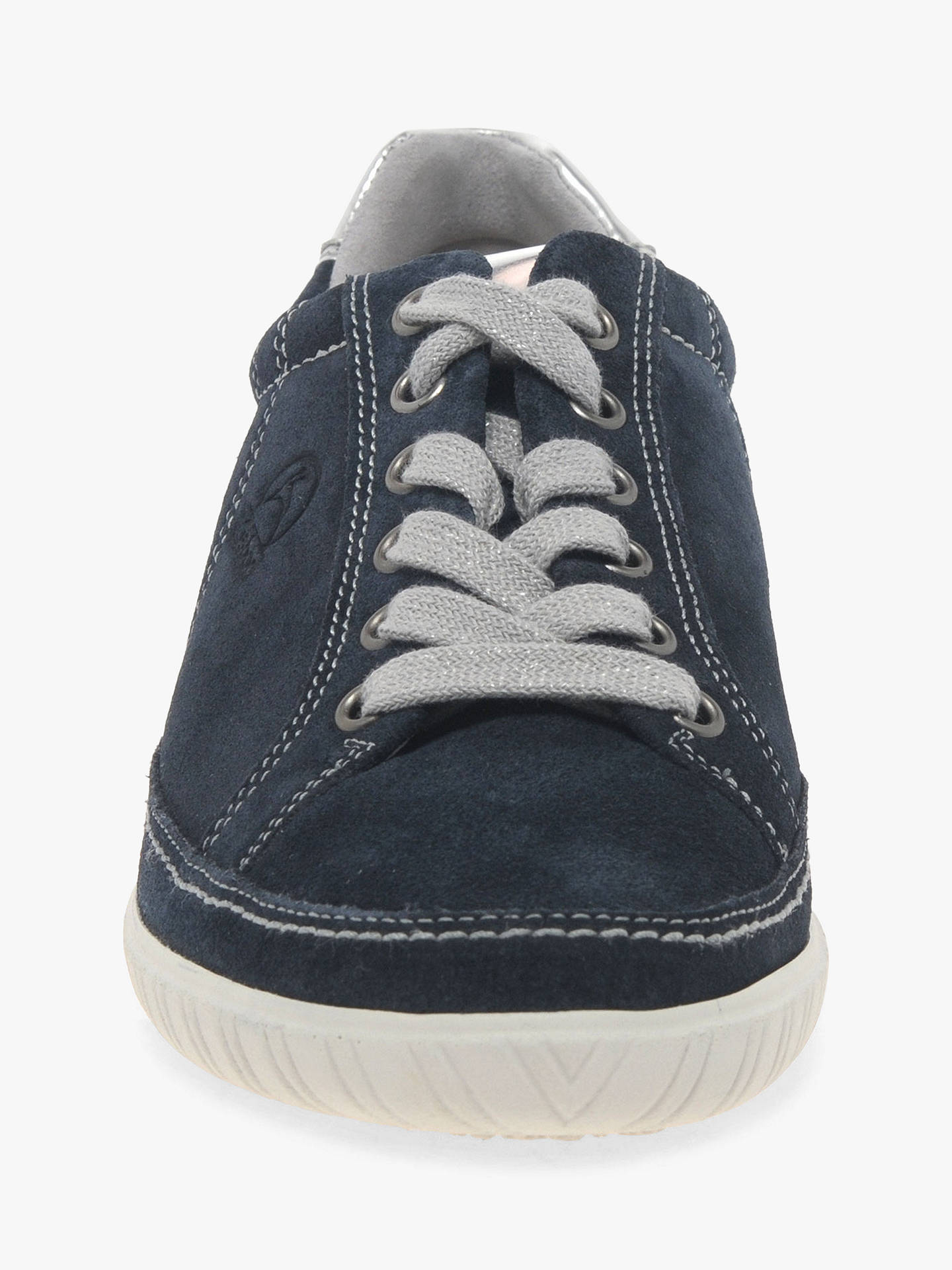 6668b08923e08 ... Buy Gabor Amulet Wide Fit Trainers, Navy Suede, 3 Online at  johnlewis.com ...