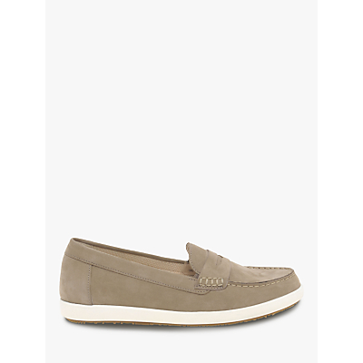 Gabor Vital Wide Fit Loafers, Taupe Nubuck