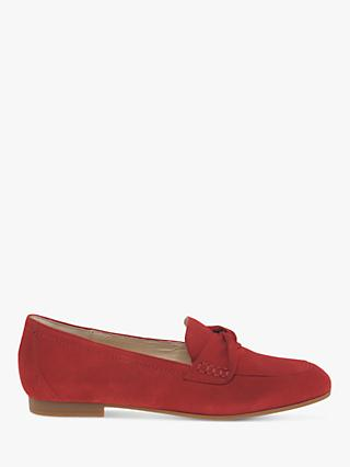 Gabor Mendoza Loafers, Red Suede