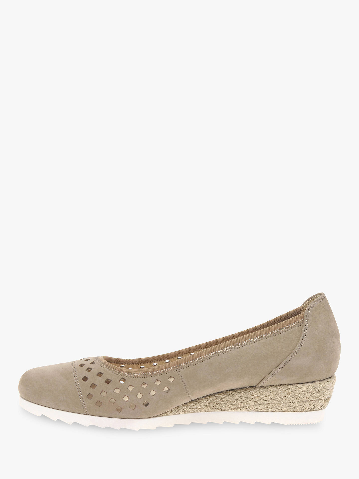 aee9774e9c7 Gabor Evelyn Wide Fit Low Wedge Pumps at John Lewis   Partners