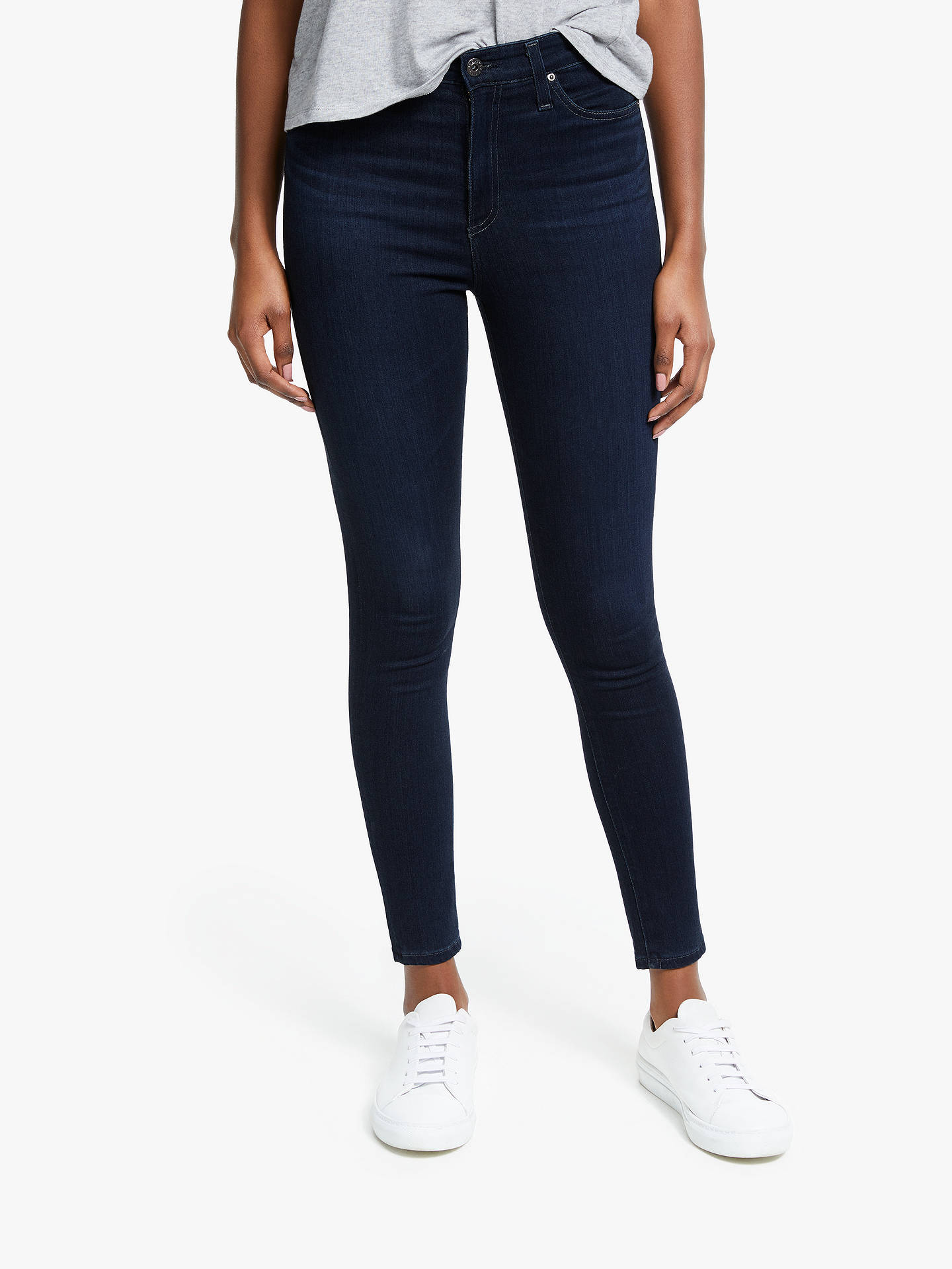 350770d99580a3 Buy AG The Mila Super High Rise Skinny Ankle Jeans, Blue, 28 Online at ...