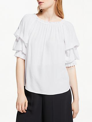 Somerset by Alice Temperley Gathered Off Shoulder Top, White