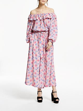 Somerset by Alice Temperley Geometric Floral Off Shoulder Jumpsuit, Pink