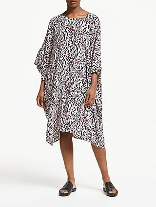 Somerset by Alice Temperley Frill Sleeve Leopard Kaftan, Nude