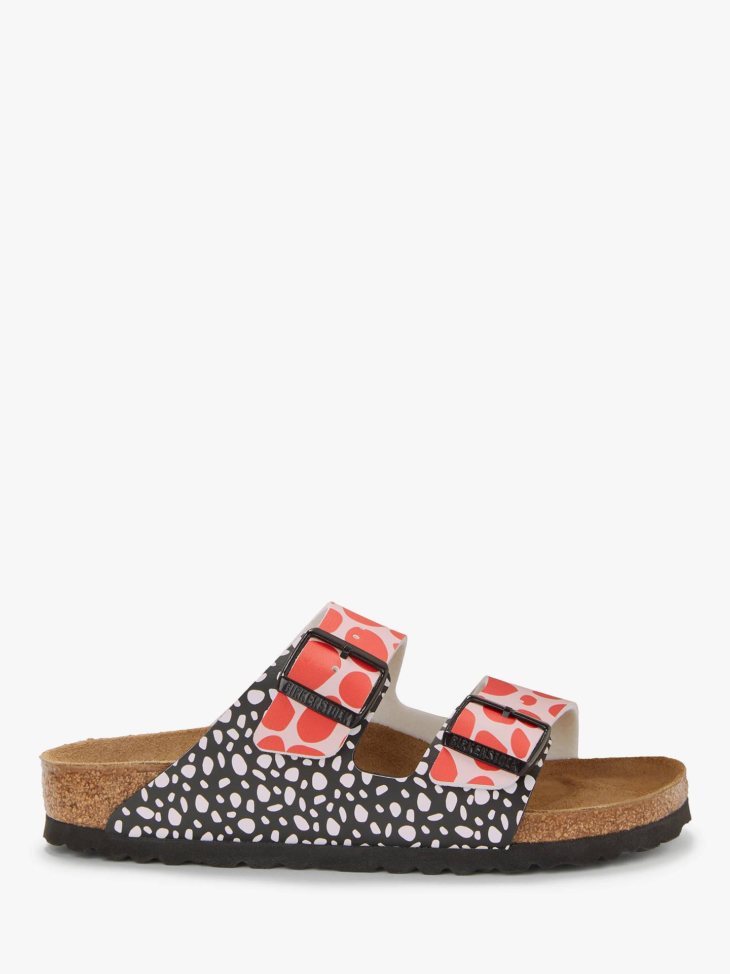 0ae75975fe663 Buy Birkenstock Arizona Narrow Double Buckle Open Toe Sandals, Blue/Pink, 6  Online ...
