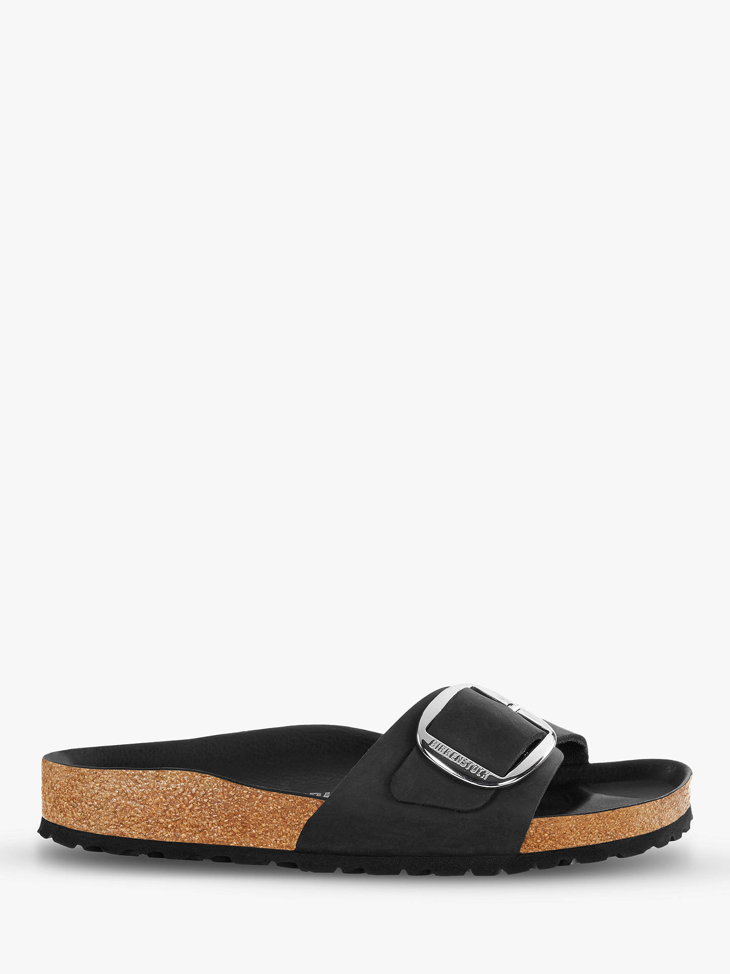 bb38c2cabc9 Buy Birkenstock Narrow Madrid Open Toe Buckle Sandals, Black, 7 Online at  johnlewis.