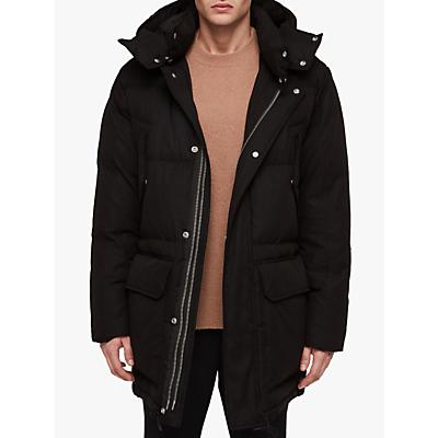 Image of AllSaints Sergio Quilted Parka Jacket, Black