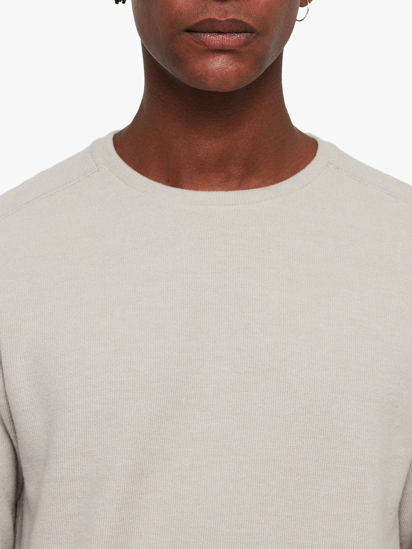 BuyAllSaints Luge Layered T-Shirt, Taupe Marl, L Online at johnlewis.com
