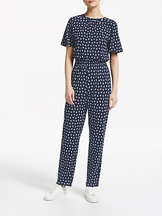 People Tree Isabella Jumpsuit, Navy