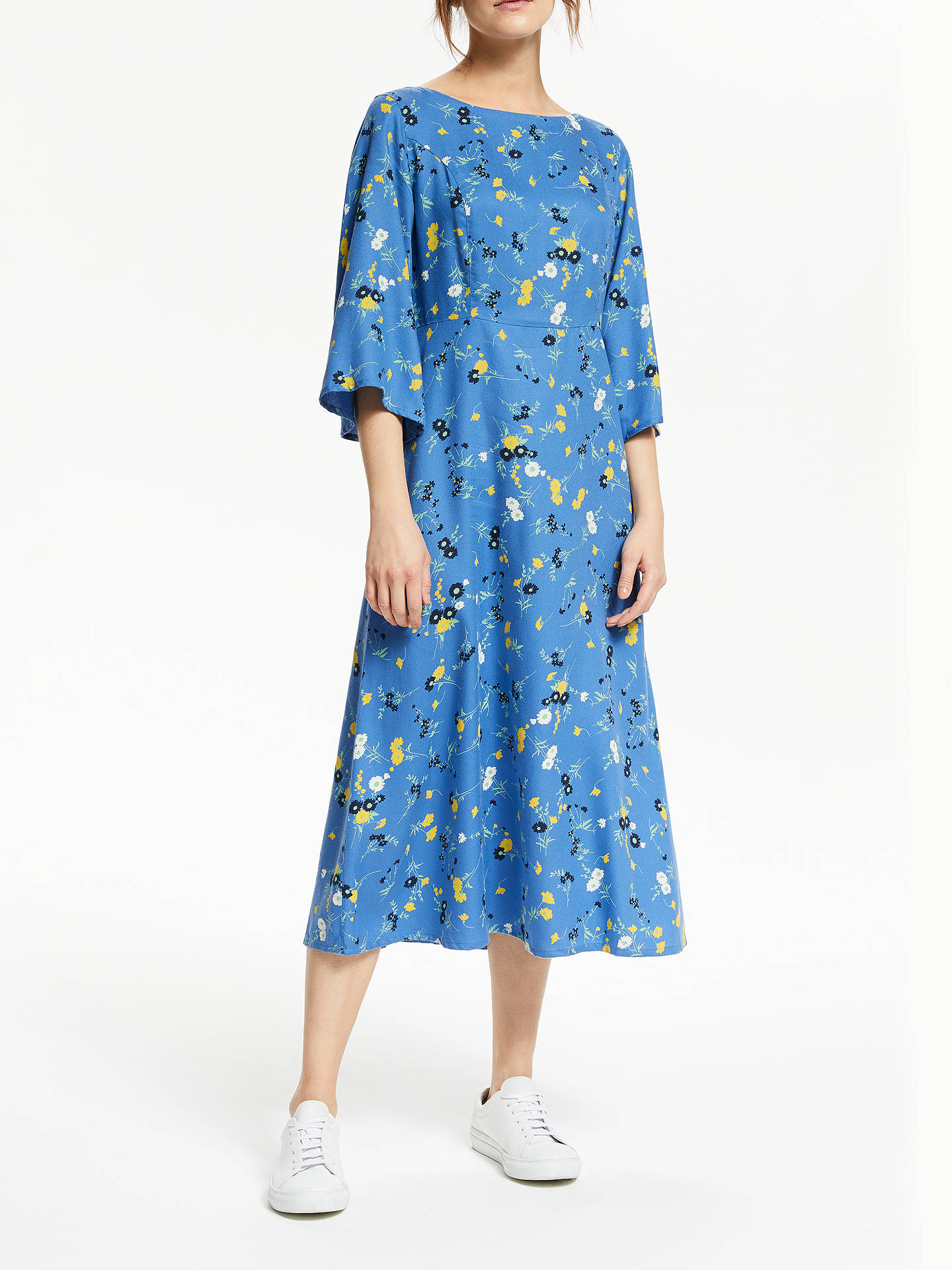 fea8e0a475827 Buy People Tree Matilda Floral Dress, Blue, 8 Online at johnlewis.com ...