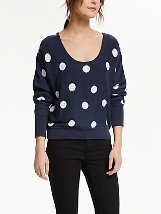 People Tree Agnes Dot Jumper, Blue