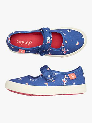 Little Joule Children's Fundays Unicorn Shoes, Blue