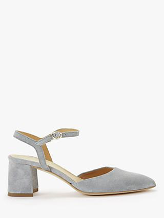 Modern Rarity Carly Suede Block Heel Sandals, Grey