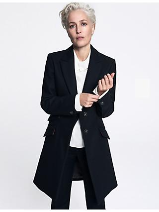 8c2d889802741 Gillian Anderson Tailored Wool Coat