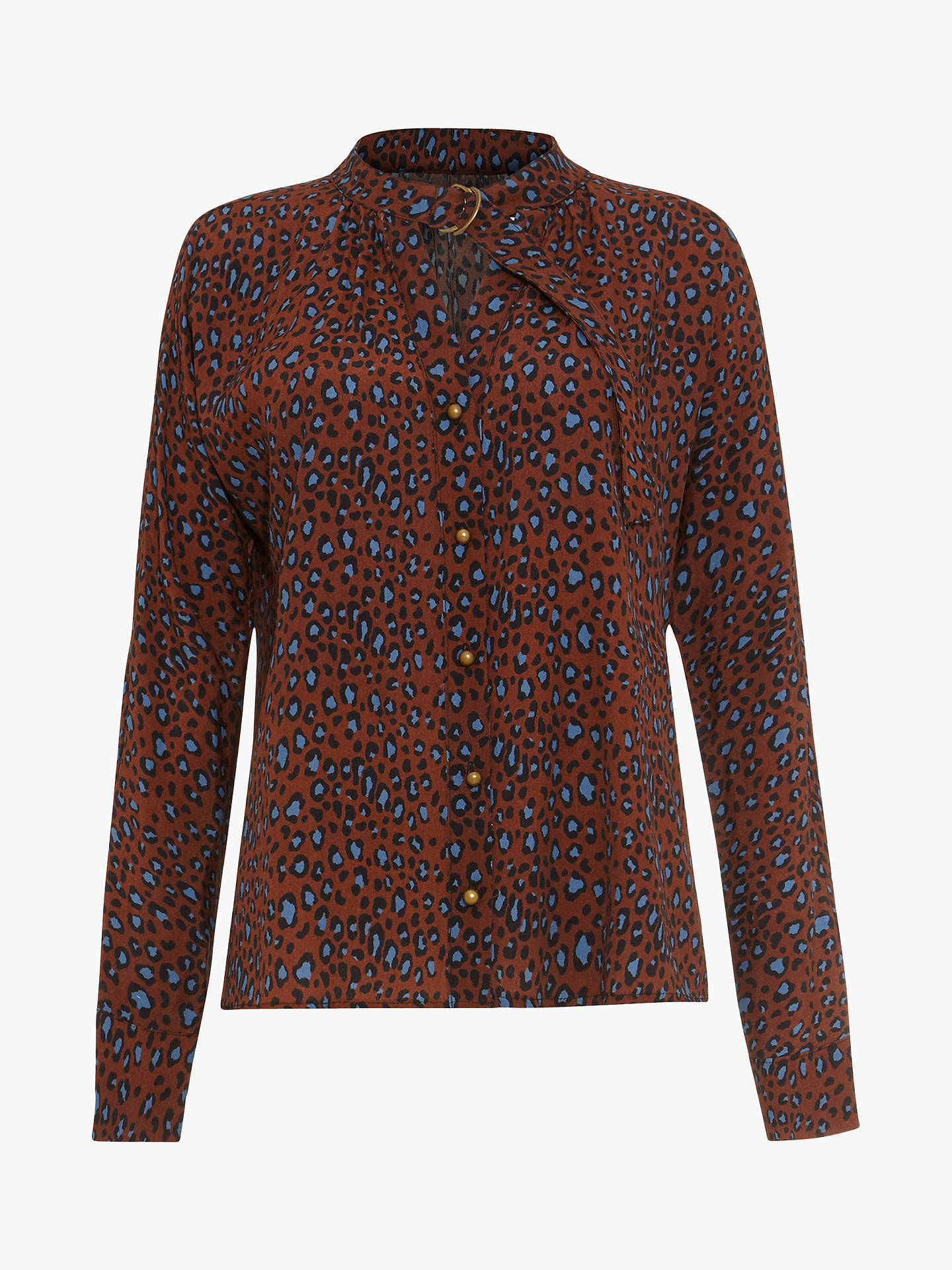 14b2a8a62cb58 Buy Damsel in a Dress Ria Animal Print Blouse, Multi, 8 Online at johnlewis  ...