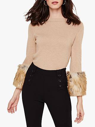 Damsel in a Dress Willow Faux Fur Jumper, Camel