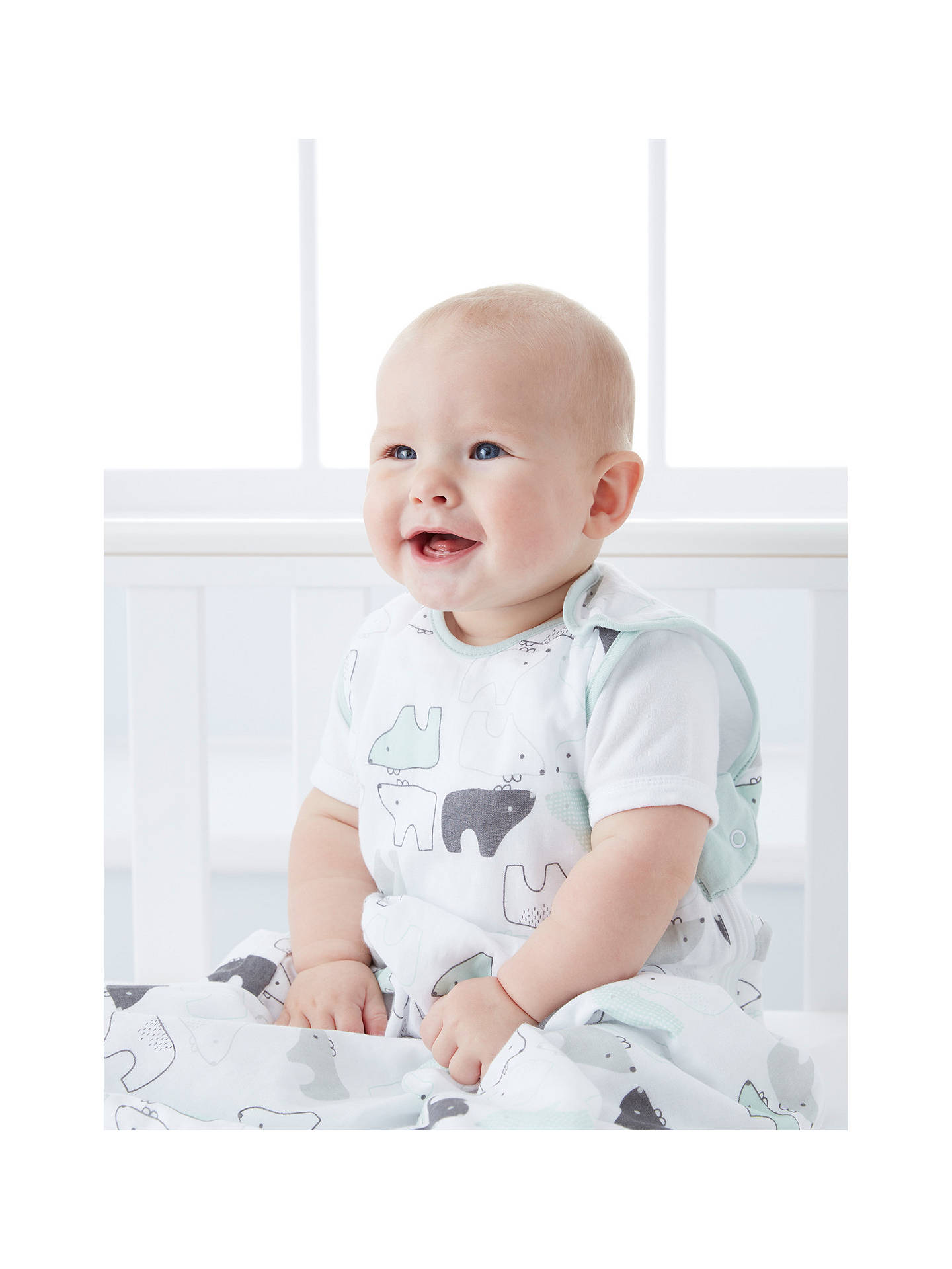 Buy Grobag Busy Bears Sleep Bag, 1.0 Tog, White, 0-6 months Online at johnlewis.com