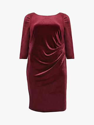 Studio 8 Lindsay Ruched Detail Velvet Dress, Red