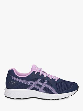ASICS Children's Jolt 2 Laced Trainers, Navy/Lilac