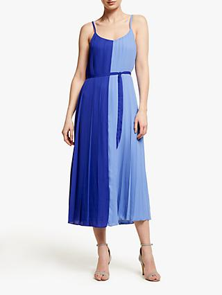 0fbc779fdbc02e John Lewis   Partners Two Tone Pleated Cami Midi Dress