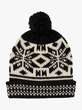 Scotch & Soda Fairisle Bobble Hat, Black