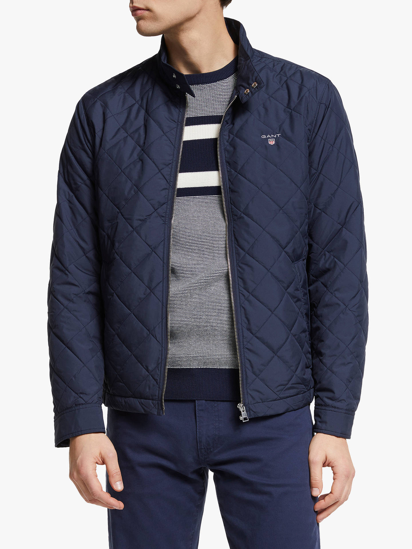 best service 0c0e4 a05b9 GANT The Quilted Windcheater Jacket at John Lewis & Partners