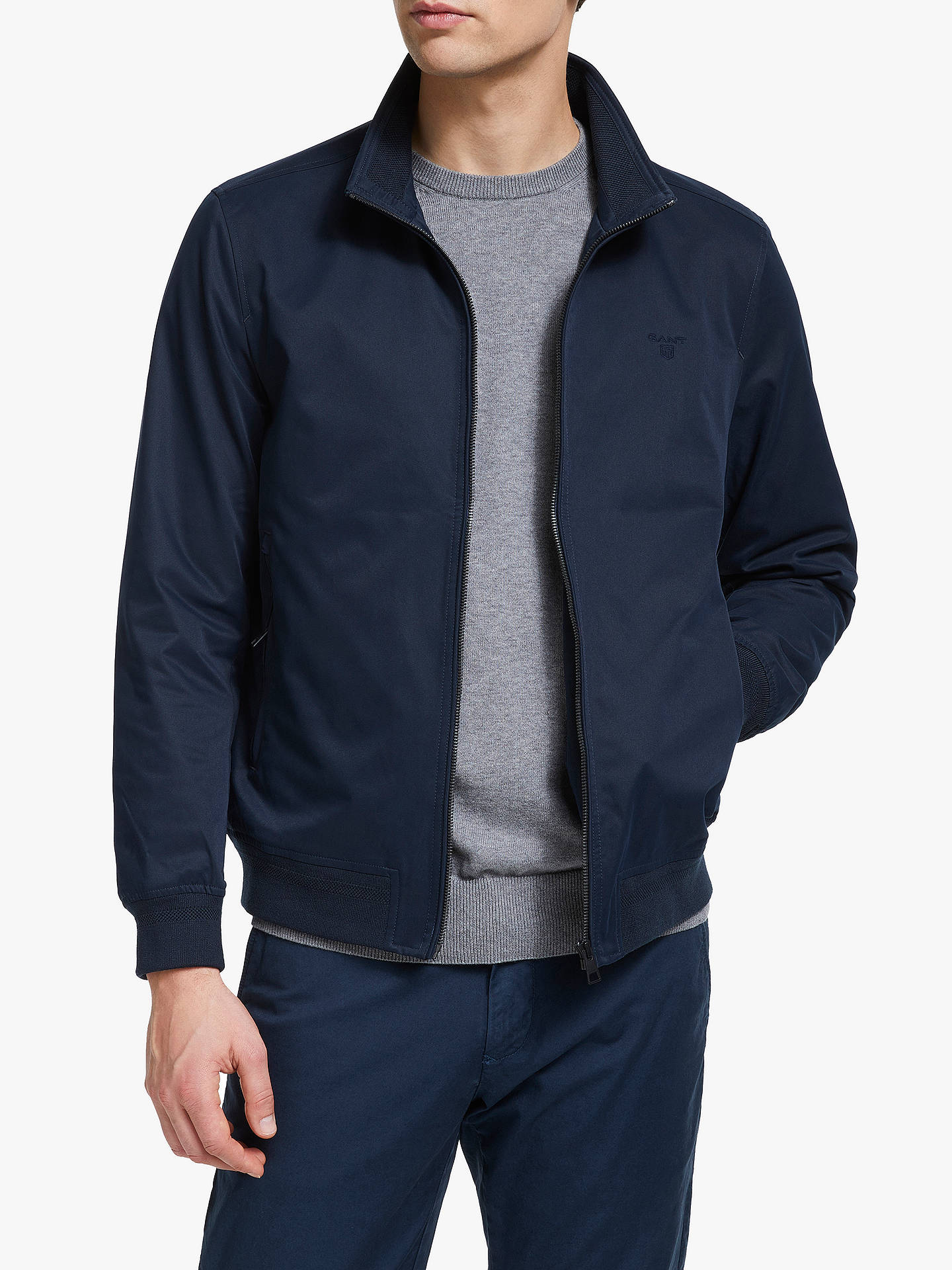 10e84db2445 Buy GANT The Comfort Hampshire Jacket, Evening Blue, L Online at  johnlewis.com ...