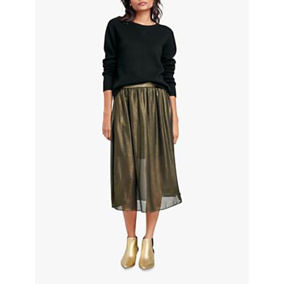 hush Ceres Metallic Skirt, Bronze/Gold