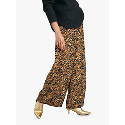 hush Costello Printed Trousers, Brown