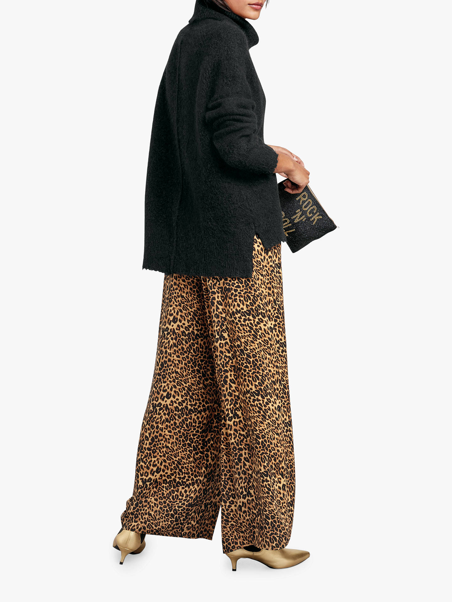 Buyhush Costello Printed Trousers, Brown, 6 Online at johnlewis.com