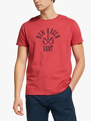 GANT New Haven Graphic T-Shirt, Red