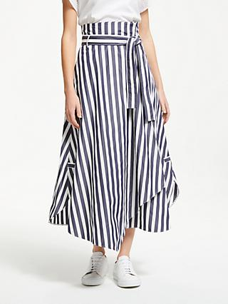 9ff53f442f2 Weekend MaxMara Stripe Poplin Maxi Skirt