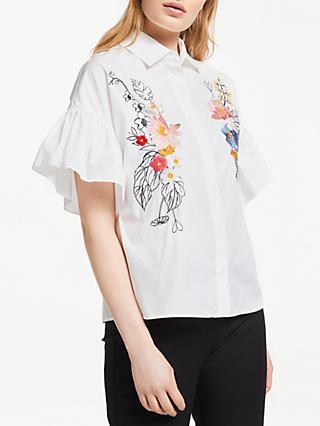 a2d34aebc8d58 Max Mara Embroidered Floral Shirt