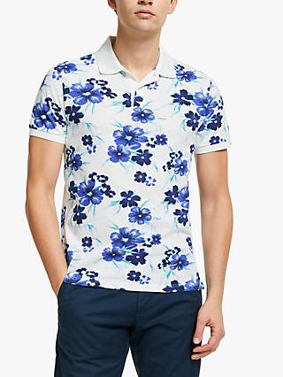 d9706c76d9 GANT Allover Floral Pique Polo Shirt, Eggshell