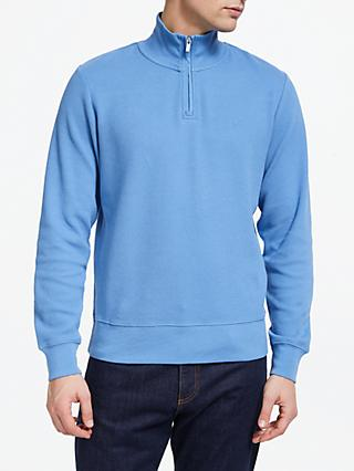 GANT Honeycomb Half Zip Jumper, Blue