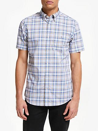 a56f2bbf87 GANT Broad Check Short Sleeve Shirt, Sand