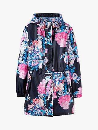 7f6170eaa260 Joules Golightly Pack-Away Cottage Floral Print Waterproof Parka Coat