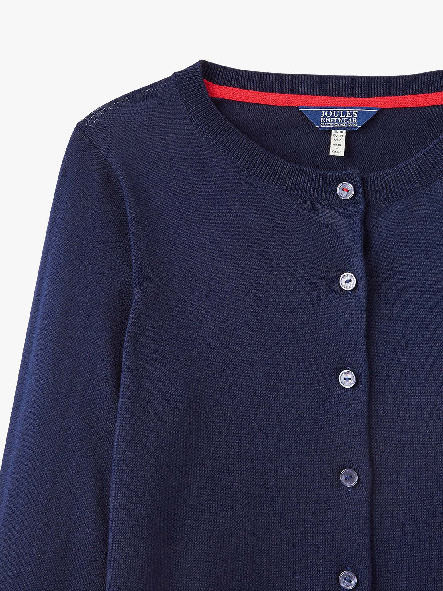 BuyJoules Skye Button Front Cardigan, French Navy, 8 Online at johnlewis.com