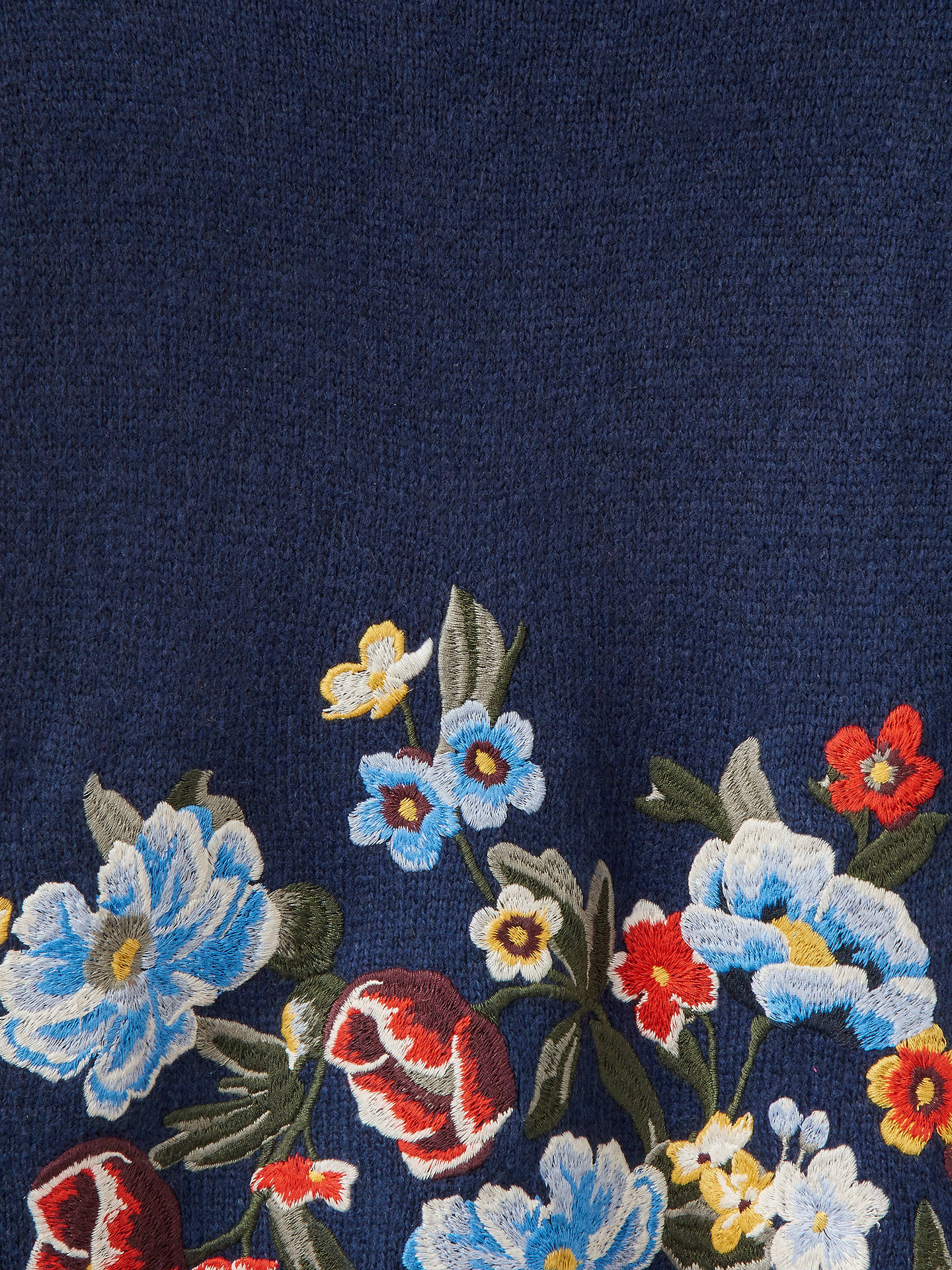 Joules Penny Statement Floral Embroidered Jumper, French