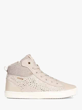 Geox Children's Kilwi Sparkle Hi-Top Shoes, Beige